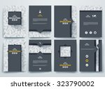 vector design brochures with... | Shutterstock .eps vector #323790002