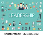word leadership with long... | Shutterstock .eps vector #323803652