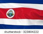 flag of costa rica   3d render... | Shutterstock . vector #323804222