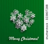 christmas card with heart made... | Shutterstock .eps vector #323807288