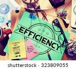 efficiency improvement mission... | Shutterstock . vector #323809055