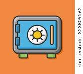 safety deposit box icon | Shutterstock .eps vector #323809562