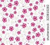 pink vector flowers seamless... | Shutterstock .eps vector #323810282