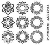 set of round frames. nine... | Shutterstock .eps vector #323812466