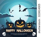 halloween banner cemetery... | Shutterstock .eps vector #323814005
