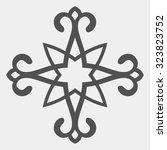 kazakh ornament  isolated... | Shutterstock .eps vector #323823752