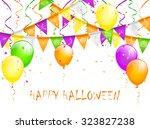halloween background with... | Shutterstock .eps vector #323827238