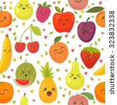 seamless pattern with happy... | Shutterstock .eps vector #323832338