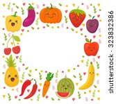 fresh happy fruits and... | Shutterstock .eps vector #323832386