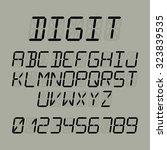 digit font vector illustration   Shutterstock .eps vector #323839535
