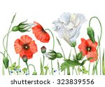 Watercolor Image Of Wildflowers