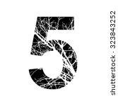 number 5 double exposure with... | Shutterstock .eps vector #323843252