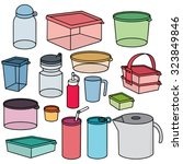 vector set of plastic container | Shutterstock .eps vector #323849846