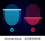 electronic fingerprint scan.... | Shutterstock .eps vector #323850848