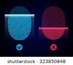 electronic fingerprint scan.... | Shutterstock .eps vector #323850848