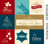 set of various christmas and... | Shutterstock .eps vector #323853416