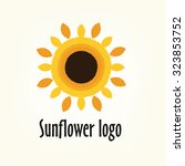 logo sunflower yellow flower... | Shutterstock .eps vector #323853752