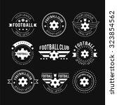 set of football or soccer...   Shutterstock .eps vector #323854562