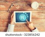 business  people  online...   Shutterstock . vector #323856242