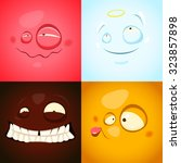 vector set with cute different... | Shutterstock .eps vector #323857898