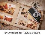 photo album with photos of... | Shutterstock . vector #323864696