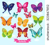butterfly vector design... | Shutterstock .eps vector #323867852