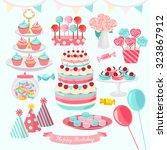 birthday party vector design... | Shutterstock .eps vector #323867912