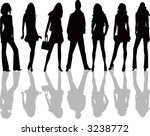 fashion girls and boy   vector | Shutterstock .eps vector #3238772