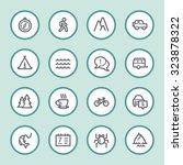 travel web icons set | Shutterstock .eps vector #323878322