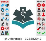 medical knowledge vector icon.... | Shutterstock .eps vector #323882042