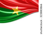 burkina flag of silk with... | Shutterstock . vector #323883866