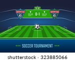 soccer field in horizontal... | Shutterstock .eps vector #323885066
