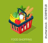 flat 3d isometric food grocery... | Shutterstock .eps vector #323898518