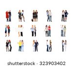 isolated groups people... | Shutterstock . vector #323903402