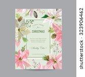 christmas frame or card   in... | Shutterstock .eps vector #323906462