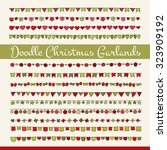 set of cute doodle christmas... | Shutterstock .eps vector #323909192