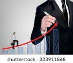 business man close up write... | Shutterstock . vector #323911868