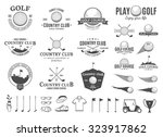 set of golf country club logo... | Shutterstock .eps vector #323917862