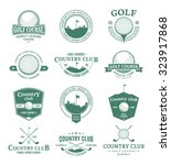 set of golf country club logo | Shutterstock .eps vector #323917868