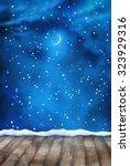 winter night painting... | Shutterstock . vector #323929316