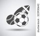 sport balls icon over grey... | Shutterstock .eps vector #323930642