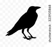 Vector Cawing Raven  Silhouett...