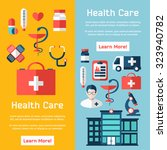 medical brochure template for... | Shutterstock .eps vector #323940782