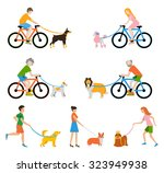 professional dog walking | Shutterstock .eps vector #323949938