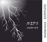 thunder bolt | Shutterstock .eps vector #323951252
