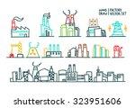 set of factory illustration... | Shutterstock .eps vector #323951606