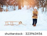 little girl enjoying a day out... | Shutterstock . vector #323963456