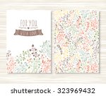 a beautiful set of flyers ... | Shutterstock .eps vector #323969432
