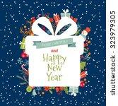 vintage merry christmas... | Shutterstock .eps vector #323979305