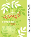 floral card with place for text   Shutterstock .eps vector #32398483